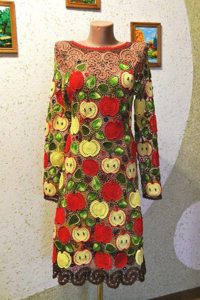 вязание - яблочный