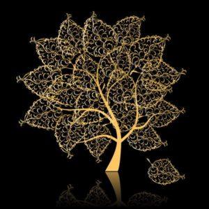 дерево царств-золотое
