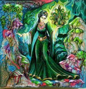 камни бажова-Рисунок А Берковской