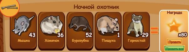 -зверьки-ночной охотник-домовята