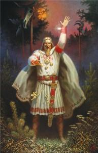 Огненный Волх, Ночь воина, Худ.Б.Ольшанский