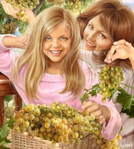 Виноград. Худ.Инна Кузубова