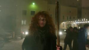 -диск-девушка с косой