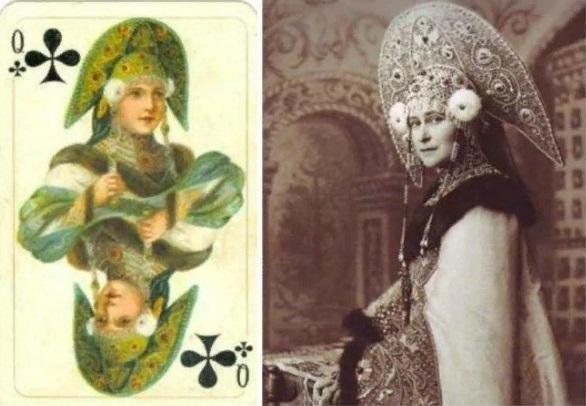 1-карты-Русское золото - ТРЕФОВая дама